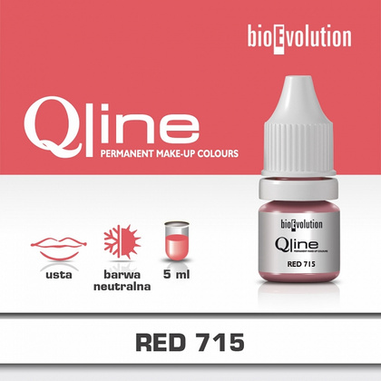 RED 715 QLINE PIGMENT 5ml