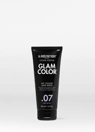 GLAM COLOR NO YELLOW HAIR MASK .07 CRYSTAL 200 ml